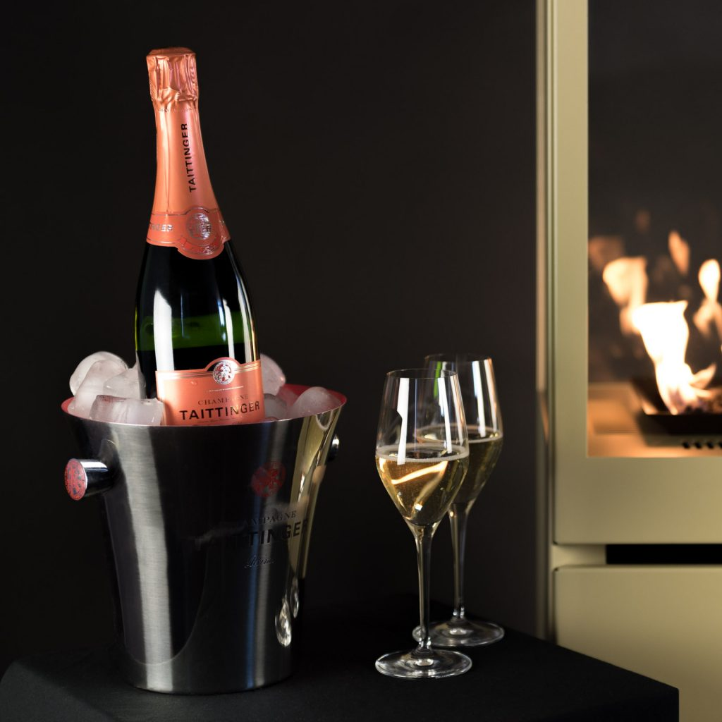 Sunwood Marino Fiery Champagne Spring Limited Edition 2018 Taittinger Champagne Patio Fire