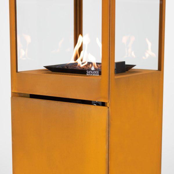 Marino Premium Corten Steel Sunwood Patio Fire