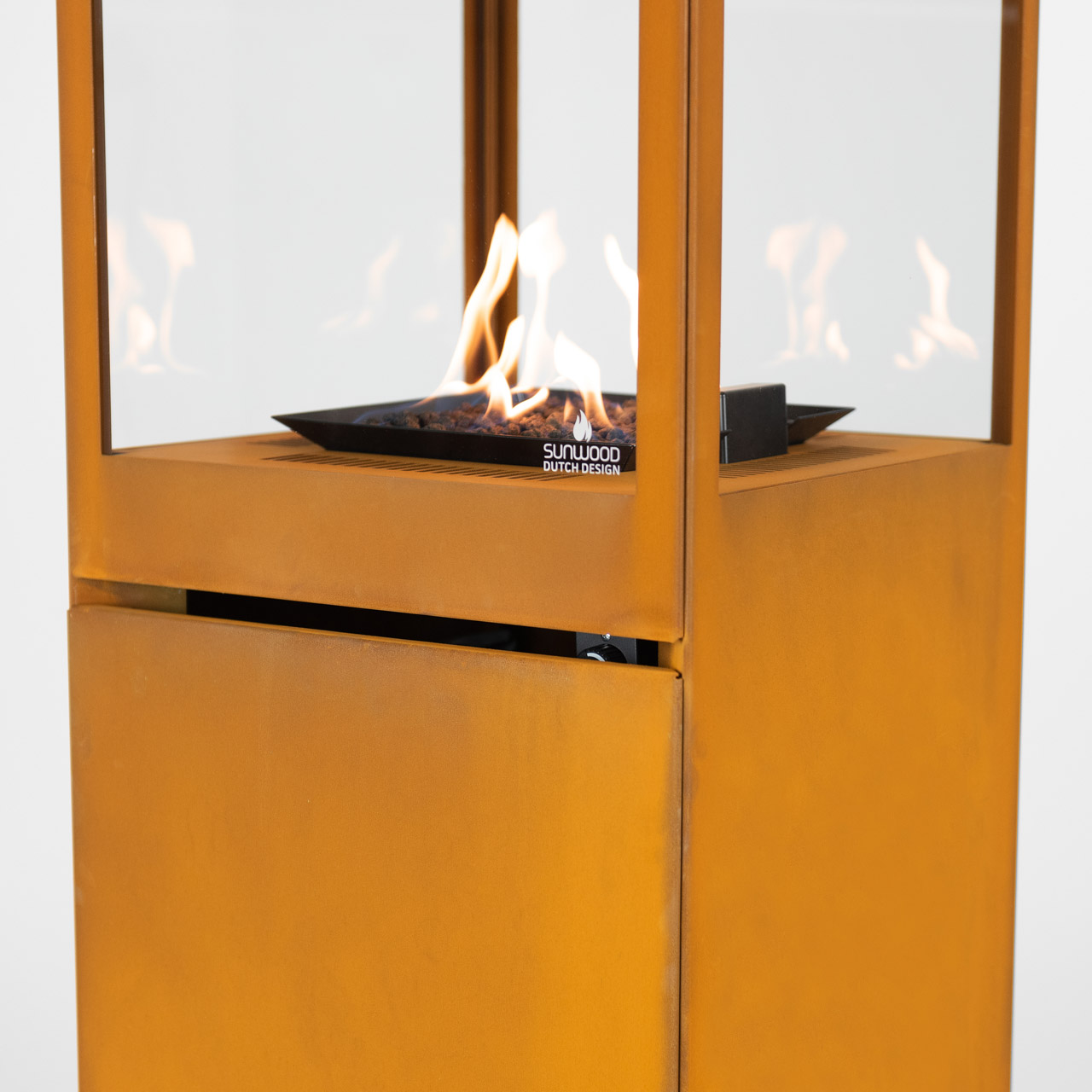 Marino Premium Corten Steel Sunwood Patio Fire